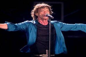 Mick Jagger em ação no show em Copacabana (Reprodução)