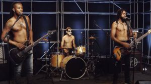 Black Pantera no estúdio Showlivre (Reprodução)