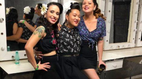 Camila, Sayuri e Déia, integrantes da Time Bomb Girls (Reprodução)