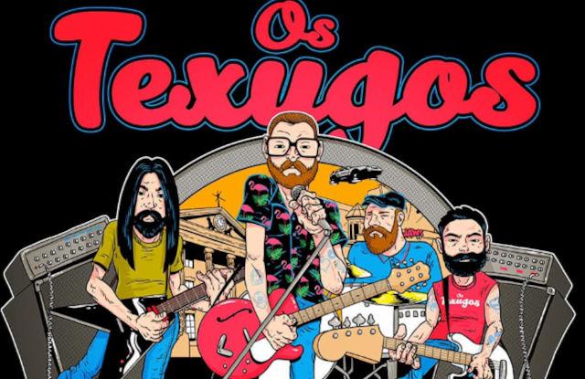 Arte da banda Os Texugos (Divulgação)