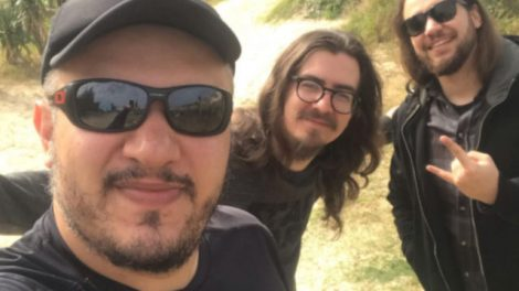 Celso Costa, Juliano Ribeiro e Henrique Bertol, da banda Bad Bebop
