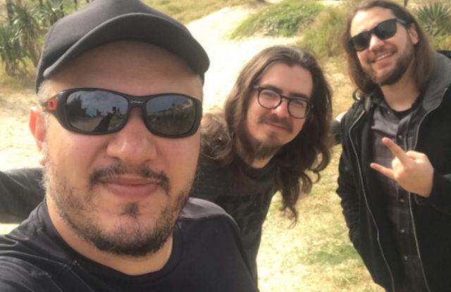 Celso Costa, Juliano Ribeiro e Henrique Bertol, da banda Bad Bebop