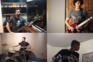A banda Blowdrivers em ação (Reprodução)
