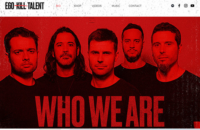 A banda Ego Kill Talent (Reprodução Site Oficial)