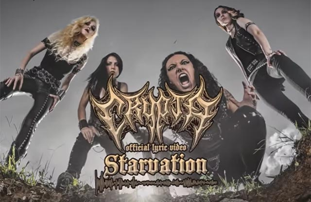 Frame do lyric video de Starvation (Reprodução Youtube)